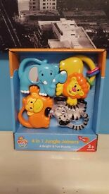 4 in 1 Jungle Joiners puzzle/rattle musical toy BRAND NEW