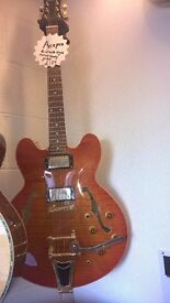 *SOLD* ACEPRO GRETSCH STYLE HOLLOW BODY GUITAR
