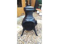 cast iron garden chiminea