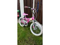 """Girls 16"""" barbie bike like new can deliver for a small charge"""