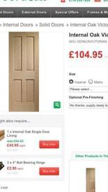 +2 internal oak doors