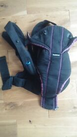 BabyBjorn baby carrier (from birth to 10 kg), purple and black