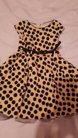 Spotty Next dress age 4