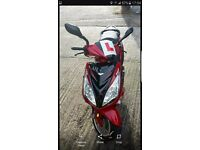 Red lex moto fms 125cc scooter