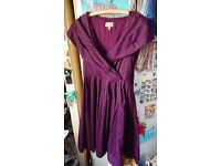 Purple Bridesmaid Dress Size 18 Knee-length - Lindy Bop