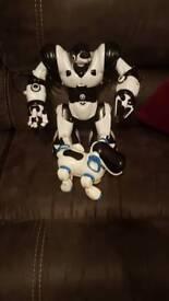 Robo sapian and robo dog