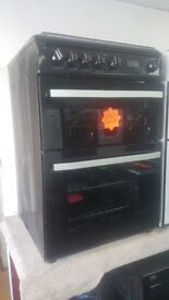 NEW/GRADED HOTPOINT DSG60K 60cm Double Oven Gas Cooker with WARRANTY | RRP £500