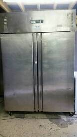 Polar commercial double doors chiller fully working stainless steel with guaranty good condition