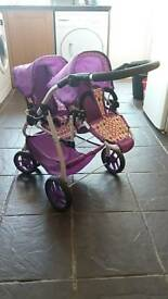 Child's toy twin pushchair