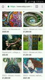 Original nikki ella whitlock paintings/mosaics