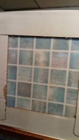UN-OPENDED & UN-USED WALL TILES WITH 2.5ltr UN-OPENED TILE & GROUT ADHESIVE!