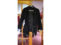 Women's Black Coat- DP, size 10