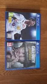 Ps4 games fifa 18 & call of duty ww2