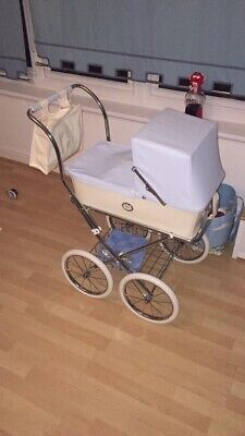 Bebelux Childs Pram Life Like Doll And Accessories