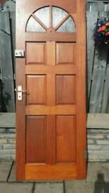 Hardwood carolina door with brass iron mongery included.