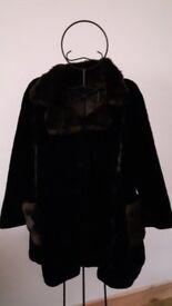 Ladies Borgazia vintage deep pile faux fur coat