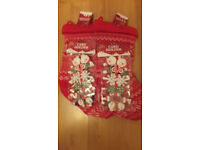 santa knitted xmas stockings and card peg holders lot all brandnew items