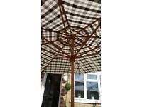 Large garden umbrella