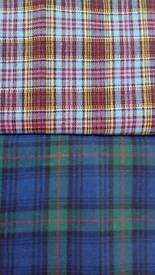 Two Brand New lengths of washable Tartan Material. (Not wool).