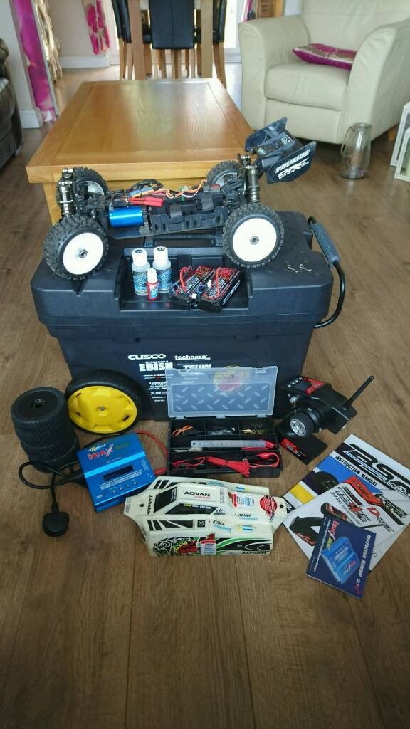 4WD RC 4s Lipo BasherBSRBZ 888in Blackwood, CaerphillyGumtree - Great buggy, seriously fast running on 2x 2cell lipos, only used twice loads of kit including spare wheels and tyres, backup servo, great charger and controller, uprated spur (21t). Pro line badland tyres were £40, heavy servo, spur and bits another...