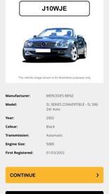 Mercedes SL500 FULL HISTORY low miles