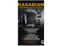 Kasabian, Liverpool Echo Arena 5/12/17 ( 2 tickets )