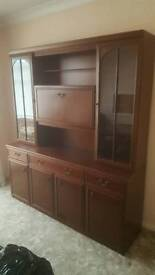 gorgeous polished wood display cabinet