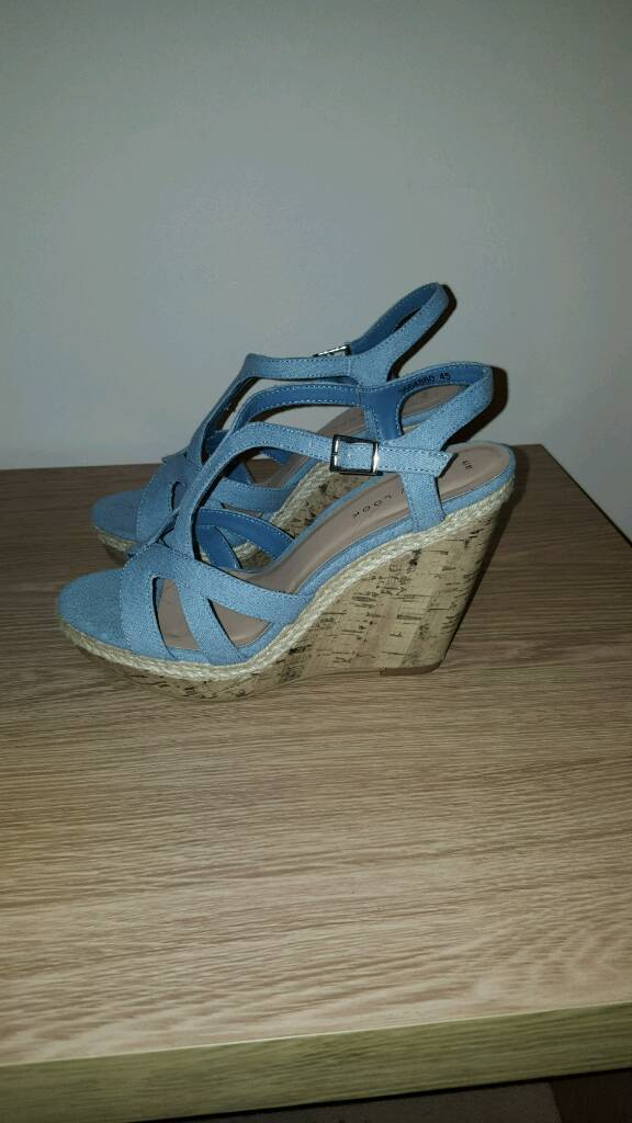 Denim style wedge shoes- Size 4