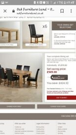 Mango Dining Room Table and 6 Real Leather Chairs!!