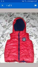 Childs red Body warmer age 4-5