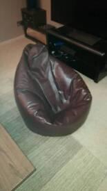 Hi-BagZ Gaming Bean bag Faux Leather Brown