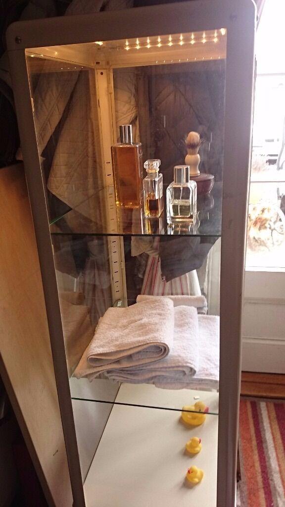 Bathroom Lights Edinburgh metal and glass display /storage bathroom or other cabinet with
