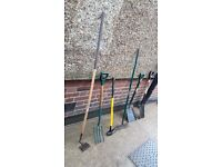 **MORE**GARDEN TOOLS**AXE**FORK**SHOVEL**RAKE**ETC**ALL METAL AND SOLID**£10 EACH**BARGAIN!!!