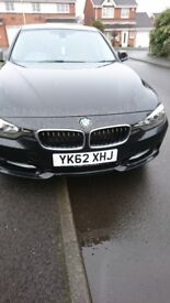 Bmw 320d in black, red leather interior, privacy glass, heated seated. Amazing car, must be seen
