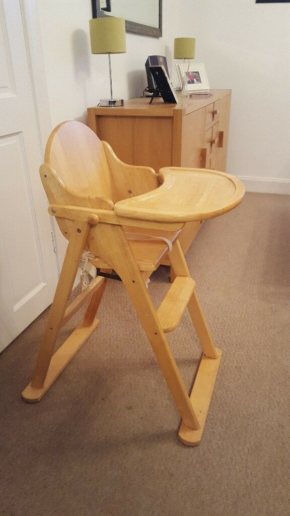 Solid Wooden High Chair £15
