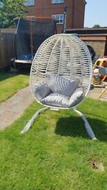 💝BRAND NEW EGG CHAIR/ SWINGER SINGLE SIZE 🔰WITH CUSHIONS