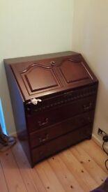 Wooden dark wood bureau