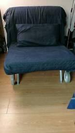 Ikea single bed/sofa bed in Denim