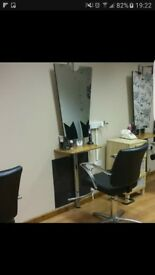 4 x hairdressing sections inc footrest and hairdryer holder