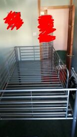 Mid sleeper metal framed bed, good condition. Dismantled £60 ONO
