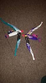 Nerf rebelle bow x2