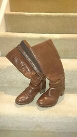 Wide Calf Heeled Boot