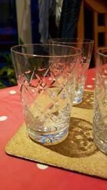 Crystal Glass set, 5 + 1