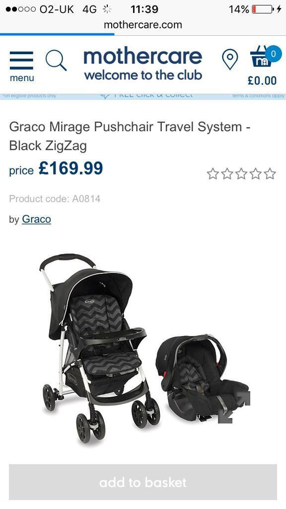 Brand new Graco mirage travel system pram car seat free local delivery buggy pram strollerin County AntrimGumtree - This is new never used bought for grandparents house but never used comes with unopened instructions and raincover handy folded car seat locks into buggy and car seat suits 0 36 months smart looking we pram graco mirage travel system calls only plz...