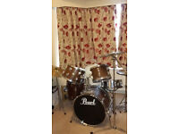 Pearl Drum Kit. Moderate condition needs some tlc