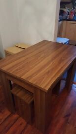 Dining table and 4 stools