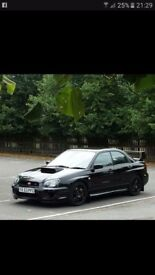 Subaru Impreza sti (UK) 2003 Black metal flake