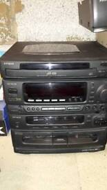 AIWA stereo unit and record deck