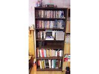 5 shelf book case. V.G.C too big for my living room.