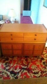Cabinet with 4 drawers and 2 cupboards made by Parker Knoll.